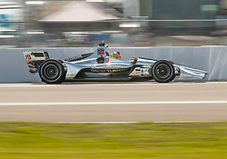 March 9, 2019 - St. Petersburg, FL, U.S. - ST. PETERSBURG, FL - MARCH 09: Dale Coyne Racing driver Santino Ferrucci (19) of United States during the NTT IndyCar Series - Firestone Grand Prix Qualifying on March 9 in St. Petersburg, FL. (Photo by Andrew Bershaw/Icon Sportswire) (Credit Image: © Andrew Bershaw/Icon SMI via ZUMA Press)