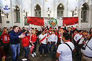 Ambiance Peru fans at Nikolskaya Plaza during the 2018 FIFA World Cup Russia on June 13, 2018 in Moscow, Russia - Photo Thiago Bernardes / FramePhoto / ProSportsImages / DPPI