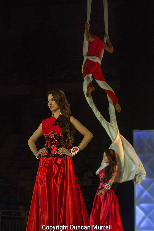 Miss Puerto Princesa beauty pageant at the Coliseum, Puerto Princesa, Palawan, the Philippines.