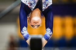 October 28, 2018 - Doha, Quatar - Lorette Charpy of France   during  Balancing Beam qualification at the Aspire Dome in Doha, Qatar, Artistic FIG Gymnastics World Championships on 28 of October 2018. (Credit Image: © Ulrik Pedersen/NurPhoto via ZUMA Press)