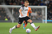 Derby County forward Martyn Waghorn runs with the ball during the EFL Sky Bet Championship match between Derby County and Cardiff City at the Pride Park, Derby, England on 13 September 2019.