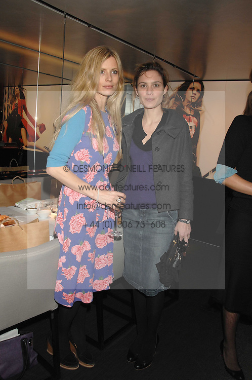 Left to right, LAURA BAILEY and SHEHERAZADE GOLDSMITH at a lunch to celebrate the launch of the Top Tips for Girls website (toptips.com) founded by Kate Reardon held at Armani, Brompton Road, London on 5th March 2007.<br /><br />NON EXCLUSIVE - WORLD RIGHTS