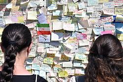Tributes on London Bridge following the 3 June terrorist attack, London UK 2017