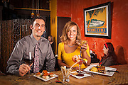 Appetizers and drinks at Suite 1901 in Cheyenne, Wyoming.