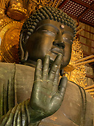 The Great Buddha Hall at the Todaiji Temple, houses the world's largest bronze statue of the Buddha Daibutsu