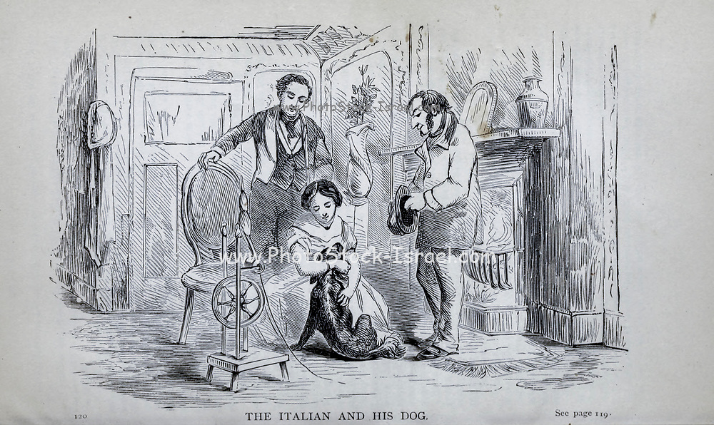 THE ITALIAN AND HIS DOG From the autobiographical Book ' Struggles and triumphs; or, Forty years' recollections of P.T. Barnum ' By Barnum, P. T. (Phineas Taylor), 1810-1891 Published by The Courier Company Buffalo, N.Y. in 1879. Phineas Taylor Barnum (July 5, 1810 – April 7, 1891) was an American showman, politician, and businessman, remembered for promoting celebrated hoaxes and for founding the Barnum & Bailey Circus (1871–2017). He was also an author, publisher, and philanthropist,
