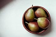 SYRACUSE, NY – NOVEMBER 25, 2010: Pears still life.