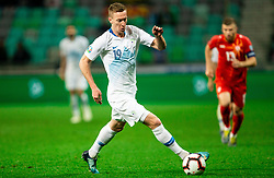 Robert Berić of Slovenia during football match between National teams of Slovenia and North Macedonia in Group G of UEFA Euro 2020 qualifications, on March 24, 2019 in SRC Stozice, Ljubljana, Slovenia. Photo by Vid Ponikvar / Sportida