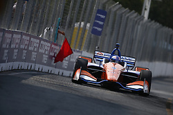 July 14, 2018 - Toronto, Ontario, Canada - SCOTT DIXON (9) of New Zealand takes to the track to practice for the Honda Indy Toronto at Streets of Toronto in Toronto, Ontario. (Credit Image: © Justin R. Noe Asp Inc/ASP via ZUMA Wire)