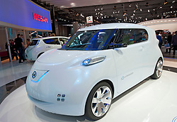 Nissan Townpod zero emission electric concept car at Paris Motor Show 2010