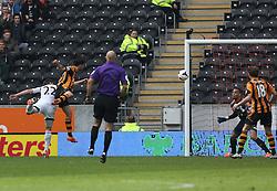 Hull's George Boyd scores the first goal  - Photo mandatory by-line: Matt Bunn/JMP - Tel: Mobile: 07966 386802 05/04/2014 - SPORT - FOOTBALL - KC Stadium - Hull - Hull City v Swansea City- Barclays Premiership
