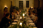 DINNER, Luomo Vogue 40th Anniversary dinner. Palazzo Litta. Milan. 22 June 2008 *** Local Caption *** -DO NOT ARCHIVE-© Copyright Photograph by Dafydd Jones. 248 Clapham Rd. London SW9 0PZ. Tel 0207 820 0771. www.dafjones.com.