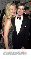 MR TIM & LADY HELEN TAYLOR, at a reception in Buckinghamshire on 11th June 2001.OPB 104