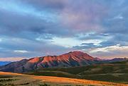 North Toiyabe Peak at Sunset, Lander County, Nevada