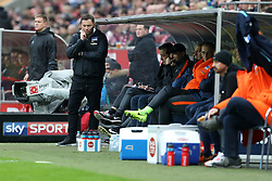 COLOGNE, March 19, 2017  Head coach Pal Dardai of Hertha BSC looks on during the Bundesliga match between 1. FC Koeln and Hertha BSC in Cologne, Germany, on March 18, 2017. The team of 1. FC Koeln won 4-2. (Credit Image: © Ulrich Hufnagel/Xinhua via ZUMA Wire)
