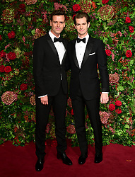 Andrew Garfield (right) and guest attending the Evening Standard Theatre Awards 2018 at the Theatre Royal, Drury Lane in Covent Garden, London.