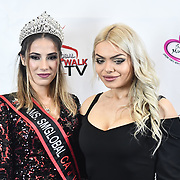 Tiana Sidor and Gabriella Melrose attend SMGlobal Catwalk - London Fashion Week F/W19 at Clayton Crown Hotel,  Cricklewood Broadway, on 1st March 2019, London, UK.