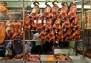 Londyn, 2009-10-23. Chińska dzielnica w Londynie, pub z pieczonymi kurczakami