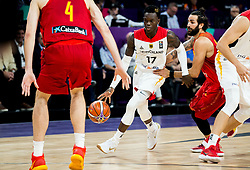 Dennis Schroder of Germany vs Ricky Rubio of Spain during basketball match between National Teams of Germany and Spain at Day 13 in Round of 16 of the FIBA EuroBasket 2017 at Sinan Erdem Dome in Istanbul, Turkey on September 12, 2017. Photo by Vid Ponikvar / Sportida