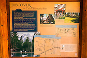 Interpretive sign at Tallac Historic Site, Lake Tahoe, California USA