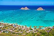 Kailua, Oahu, Hawaii, USA --- Mokulua Islands, Kailua Bay, Hawaii
