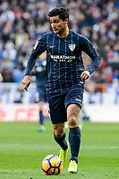 "Malaga CF's Gonzalo ""Chory"" Castro during La Liga match between Real Madrid and Malaga CF at Santiago Bernabeu Stadium in Madrid, Spain. January 21, 2017. (ALTERPHOTOS/BorjaB.Hojas)"