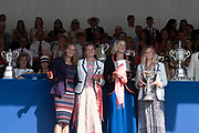 """Henley on Thames, United Kingdom, 8th July 2018, Sunday, View,  """"Fifth day"""", of the annual,  """"Henley Royal Regatta"""", Henley Reach, River Thames, Thames Valley, England, © Peter SPURRIER, Prize Giving,"""
