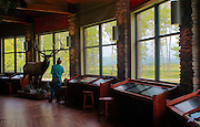 Northcentral Pennsylvania, interior of visitor's center,  Winslow Overlook, Benezette, Elk County