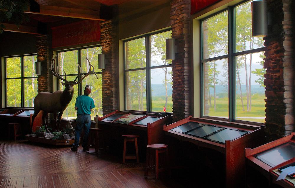 Northcentral Pennsylvania, interior of visitor's center,  Winslow Overlook, Benezette, Elk County