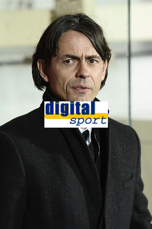 Filippo Inzaghi<br /> Firenze 16/03/2015 , Football Calcio 2014/2015 Serie A, Fiorentina-Milan, foto Daniele Buffa/Image Sport/Insidefoto