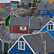 The small fishing village called Uummannaq, Greenland\