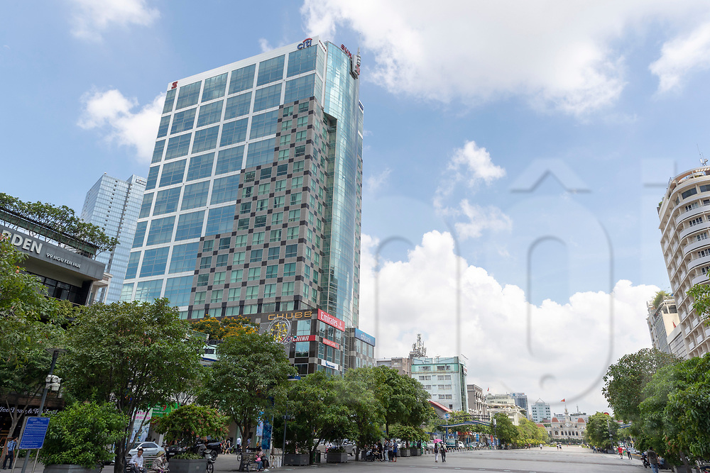 View of the Sunwah Tower, Ho Chi Minh City, Vietnam, Southeast Asia