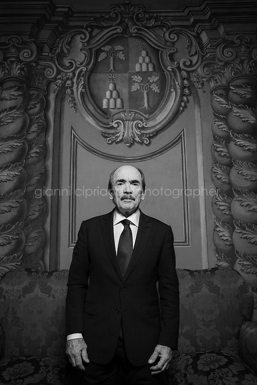 """ROME, ITALY - 21 FEBRUARY 2020: Federico Cafiero De Raho (68), the Italian national Anti-Mafia and Counter-Terrorism Public Prosecutor, poses for a portrait in his office in Rome, Italy, on February 21st 2020.<br /> <br /> Described as """"the last Mohican of the old mafia"""", Matteo Messina Denaro (57) is one of the world's most wanted fugitives, who has been in hiding since 1993. He was once considered a candidate to be the Sicilian mafia's boss of bosses after the deaths of Bernardo Provenzano in 2016 and Salvatore Riina in 2017. He was born into the Denaro Family (a well-known Mafia family) in Castelvetrano in the province of Trapani, Sicily. <br /> Matteo Messina Denaro, who infamously claimed: """"I filled a cemetery all by myself"""", has apparently kept up his luxurious lifestyle, thanks to his several bankrollers who, according to prosecutors, include politicians and businessmen. Investigators have long claimed that the boss, wanted for more than 50 murders, is being shielded by powerful Freemasons in Trapani."""