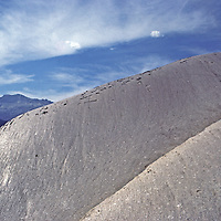 YOSEMITE NAT.PARK, CA. Glacier-polished granite of Daff Dome near Tuolumne Meadows.