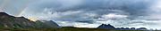 Panorama of tundra and Kilbuck Mountains, Alaska
