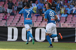 May 20, 2018 - Naples, Italy - Napoli's Spanish striker Jose Maria Callejon celebrates with teammates after scoring during the Italian Serie A football match SSC Napoli vs FC Crotone on May 20, 2018 at the San Paolo Stadium.Photo by Paolo Manzo/NurPhoto) (Credit Image: © Paolo Manzo/NurPhoto via ZUMA Press)
