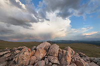Clearing storm over Beartooth Pass Shoshone National Forest Wyoming