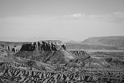 the dramatic landscape of Abiquiu New Mexico