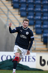 Falkirk's Willie Gibson cele scoring their second goal..(half time) Falkirk 2 v 0 Queen of the South, 25/2/2012..© Michael Schofield.