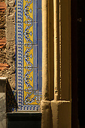 Decorative tiles with colorful patterns, Cadiz, Andalusia, Spain