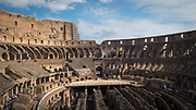 Flavian Amphitheater, Colosseum or Coliseum. It is an oval amphitheater in the centre of the city of Rome. It is the largest amphitheater ever built. One of the 7 Wonders of the World.