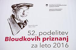 at 52th Annual Awards of Stanko Bloudek for sports achievements in Slovenia in year 2016 on February 14, 2017 in Brdo Congress Center, Brdo, Ljubljana, Slovenia.  Photo by Martin Metelko / Sportida