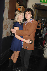 SALLY WHELAN and OLIVER BUCKWORTH at a leaving party for Poppy Delevigne who is going to New York to persue a career as an actress, held at Chloe, Cromwell Road, London on 25th January 2007.<br />