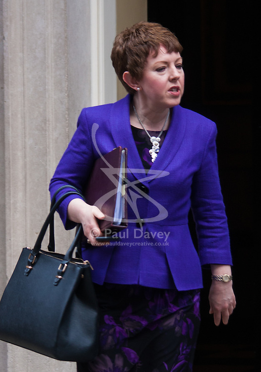 London, March 10th 2015. Ministers arrive at the weekly cabinet meeting at 10 Downing Street. PICTURED: Baroness Stowell, Leader of the House of Lords, Lord Privy Seal