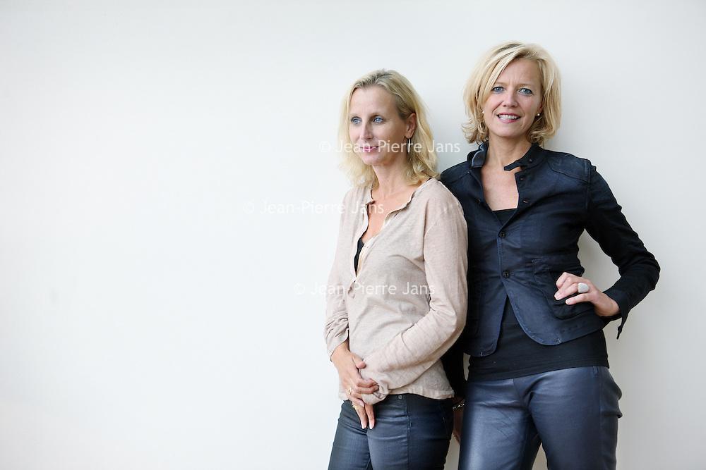 Nederland, Amstelveen , 19 september 2013.<br /> Barbera Wolfensberger, ceo van FHV BBDO (l) en Caroline van Lieshout, executive Strategy director bij FHV BBDO.<br /> Foto:Jean-Pierre Jans