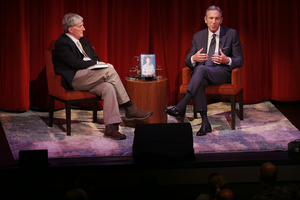 """Former Starbucks CEO Howard Schultz at the Jewish Community Center on Friday, Feb. 1, 2019, in San Francisco, Calif. Schultz promoted his new book, """"From the Ground Up: A Journey to Reimagine the Promise of America."""""""