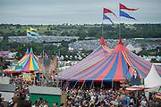 The view from the Park Field - The 2016 Glastonbury Festival, Worthy Farm, Glastonbury.