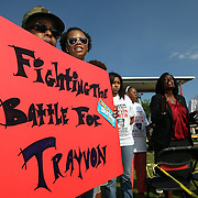 A member of the crowd holds a sign to show support during a rally for the shooting of Trayvon Martin on Thursday, March 22, 2012 at Fort Mellon Park in Sanford, Florida. (AP Photo/Alex Menendez) Trayvon Martin rally in Sanford, Florida.