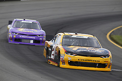June 1, 2018 - Long Pond, Pennsylvania, United States of America - Daniel Hemric (21) brings his car through the turns during practice for the Pocono Green 250 at Pocono Raceway in Long Pond, Pennsylvania. (Credit Image: © Chris Owens Asp Inc/ASP via ZUMA Wire)