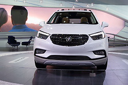 09 February 2017: Buick Encore 4 door<br /> <br /> First staged in 1901, the Chicago Auto Show is the largest auto show in North America and has been held more times than any other auto exposition on the continent.  It has been  presented by the Chicago Automobile Trade Association (CATA) since 1935.  It is held at McCormick Place, Chicago Illinois<br /> #CAS17